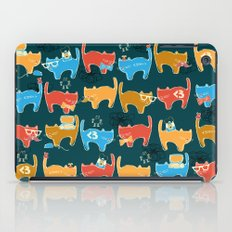 Geek Chic Cats {Nerds, Cameras, Computers, Bow Ties & Glasses} iPad Case
