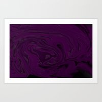 black and purple swirls  Art Print