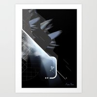 Off-Centred Art Print