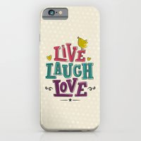 iPhone & iPod Case featuring live laugh love by Gal Ashkenazi