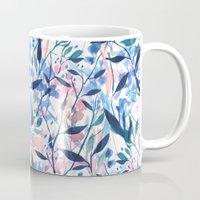 Wandering Wildflowers Blue Mug