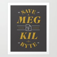 File Size Awareness Art Print
