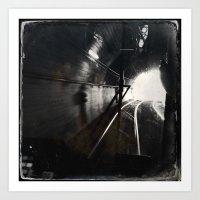 Black and White San Francisco Doboce Tunnel Art Print