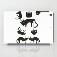Little cats in colourful hats iPad Case