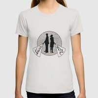 trust no one Womens Fitted Tee Silver SMALL