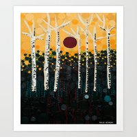:: Red Moon Love Song :: Art Print