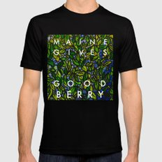 Maine Gives Good Berry Mens Fitted Tee Black SMALL