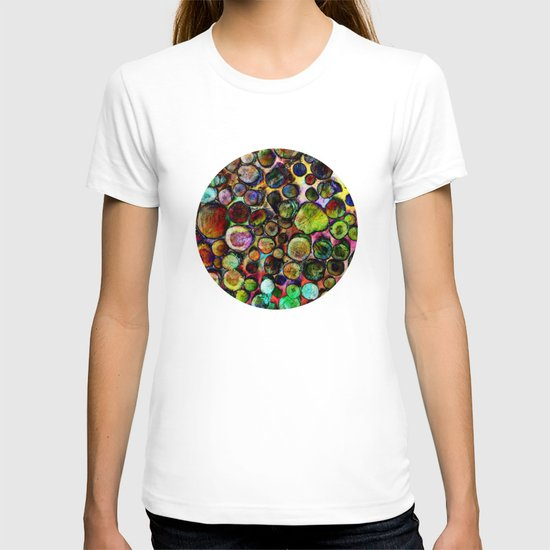 Colored Wood Pile 2 T-shirt