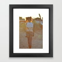 Pigtails  Framed Art Print