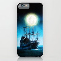 iPhone & iPod Case featuring The Flying Dutchman Under The Moon - Painting Style by ElvisTR