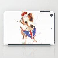 LONDON - Jack Russell Art - Union Jack iPad Case