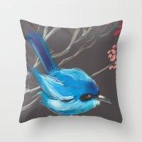 Little Blue Fairy Throw Pillow