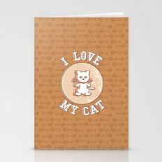 I love my cat Stationery Cards