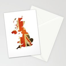 Union Jack Map - Olympics London 2012 Stationery Cards