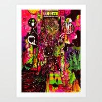 Superhug Art Print