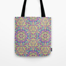 seamless pattern of stained glass Tote Bag