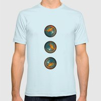 The fish Mens Fitted Tee Light Blue SMALL
