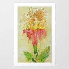 Fairy of  The Trumpet Flower  Art Print