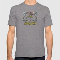 Weird & Awesome Mens Fitted Tee Tri-Grey SMALL