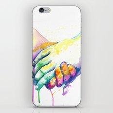 Holding Hands iPhone & iPod Skin