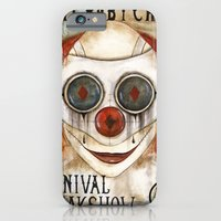 iPhone & iPod Case featuring Cry Baby Clown by Maria Forrester