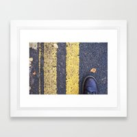 Foot and Line Framed Art Print