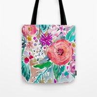 High By The Beach Floral Tote Bag