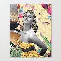 Golden Sophia Loren 2  By Zabu Stewart Canvas Print