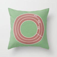 Lap Time (clock#30) Throw Pillow