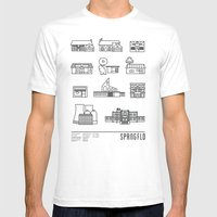SPRNGFLD Mens Fitted Tee White SMALL
