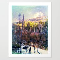 Art Print featuring Inside The North Woods O… by ArtByRobin