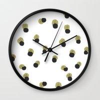 blots abstract minimal pattern Wall Clock