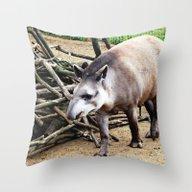 Tapir 115P Throw Pillow