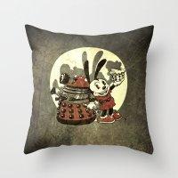 Lucky Clara Oswald Throw Pillow