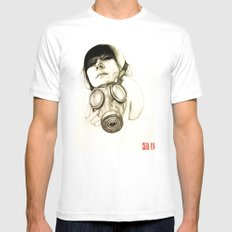 MASK Mens Fitted Tee SMALL White
