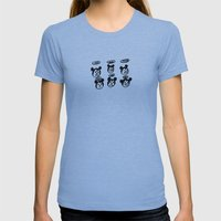 slipped em the mickey Womens Fitted Tee Athletic Blue SMALL