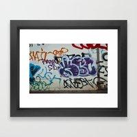 Vektorgraf Framed Art Print