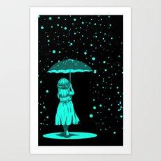 A Girl Under The light Art Print