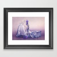 PURPLE STILL LIFE Framed Art Print