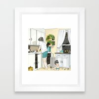 Kitchen, 3am Framed Art Print