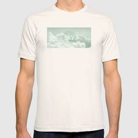 Sky behind the Clouds Mens Fitted Tee Natural SMALL