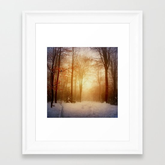 warm wintEr glOw Framed Art Print