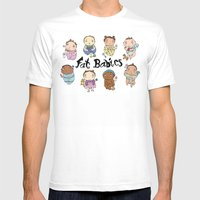 Fat Babies Mens Fitted Tee White SMALL