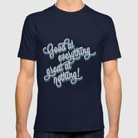 Good At Everything Great… Mens Fitted Tee Navy SMALL