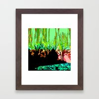 Burning Wood Framed Art Print