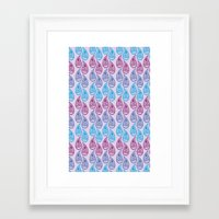 Pretty paisley  Framed Art Print