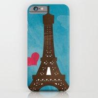 eiffel iPhone & iPod Cases featuring Eiffel by Daniela Marti