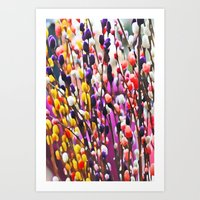 Abstract Pussy Willows Art Print