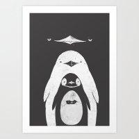 Penguinception Art Print