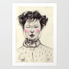 Chinese Girl Art Print